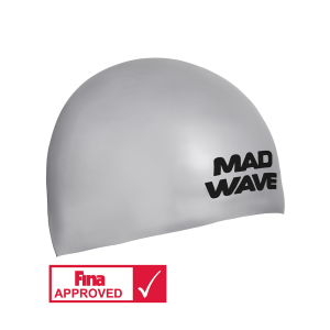 Mad Wave Silicone cap SOFT FINA Approved Silver L