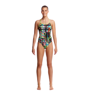Girl's Interference One Piece Diamond Back
