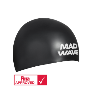 Mad Wave Silicone cap SOFT FINA Approved Black L